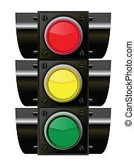 luzes, tráfego