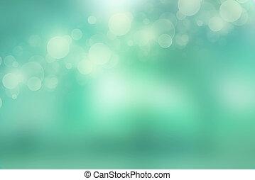 luzes, verde mint, fundo
