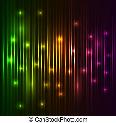 luzes, vetorial, coloridos, fundo