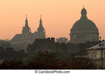 Lviv at sunrise