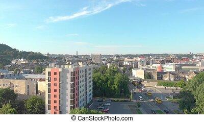 lviv, cityscape, aérien