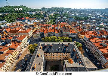 Lviv old city in Ukraine