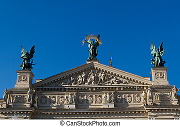 Lviv theatre of opera and ballet exterior