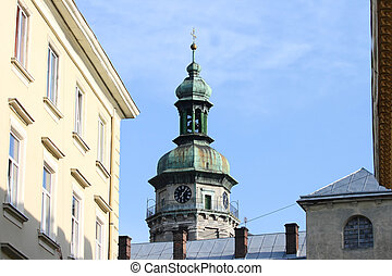 Lvov. Ukraine. Dome with a cross