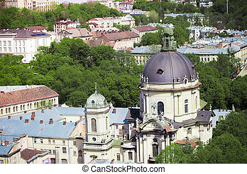 LVOV, UKRAINE - MAY 3, 2015: ?ityscape of Lviv