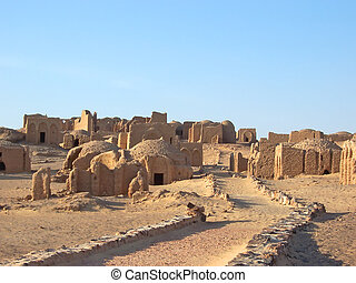 lybian, kharga, egipcio, egipto, oasis, bagawat, desierto,...