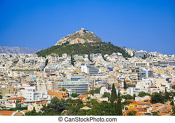 Lycabettus hill at Athens, Greece - travel background