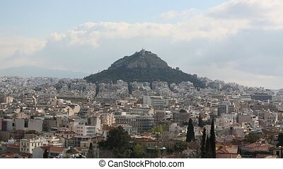 Lycabettus Hill, Athens, Greece. (HD)
