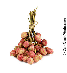 lychee, chinensis, fruit., 또는, 여주