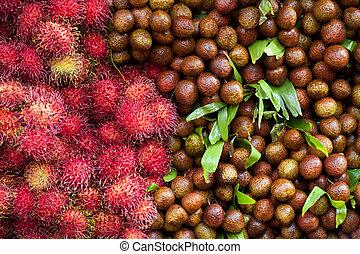 lychees and rambutans