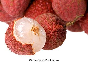 lychees, macro