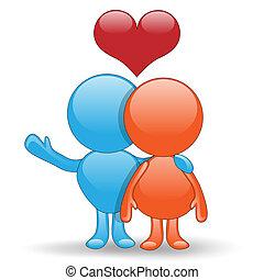 lycka till, in, love-love, kram