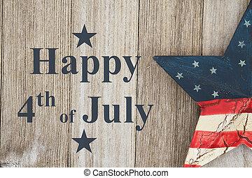 lycklig, 4 av juli, hälsning