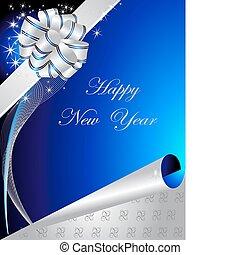 lycklig, bakgrund, nytt år