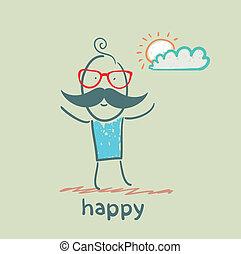lycklig