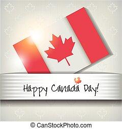lycklig, dag, kort, kanada