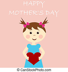 lycklig, dag, kort, mor