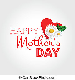 lycklig, dag, mor