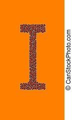 lycklig, halloween, alfabet brev, jag
