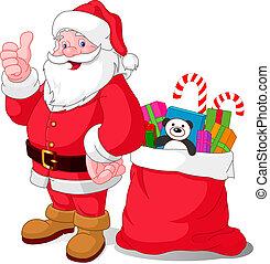 lycklig, jultomten