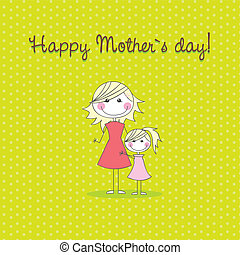 lycklig, mother?s, dag