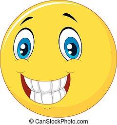 lycklig, smiley vetter