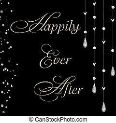lyckligt, efter, någonsin