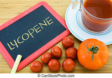 Lycopene in Tomato - Lycopene is a red carotenoid pigment...