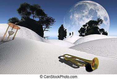 lyd, ørken