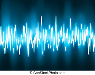 lyd vinker, osciller, glød, light., eps, 8