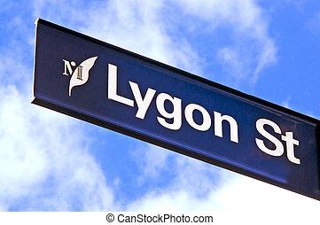Lygon Street Sign - Melbourne - Lygon Street sign in Little...