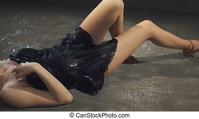 Lying on the Wet Floor