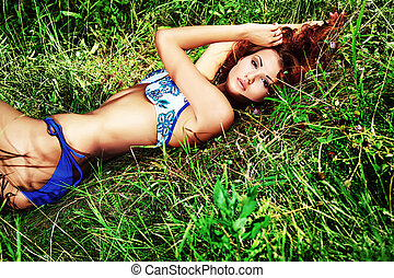 lying outdoor