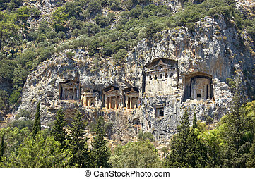 Lykian Rock Tombs, dalyan, Turkey