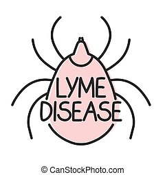 lyme disease concept- vector illustration