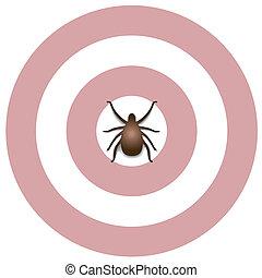Lyme Disease, Tick, Bulls eye Rash - Lyme Disease graphic...