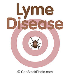 Lyme Disease, Tick, Bulls eye Rash - Lyme Disease graphic...