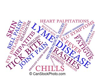Lyme Disease word cloud on a white background.