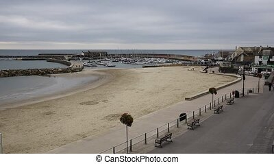 Lyme Regis beach and harbour Dorset - Lyme Regis Dorset...