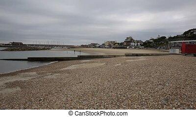 Lyme Regis beach Dorset UK - Lyme Regis Dorset England UK...