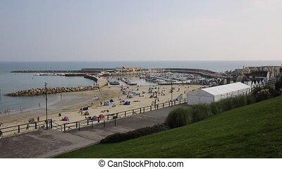 Lyme Regis Dorset England UK in Lyme Bay on the Jurassic...