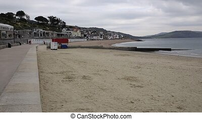 Lyme Regis promenade Dorset UK - Lyme Regis Dorset England...