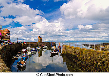 Lynmouth Harbour , N.Devon , UK