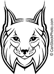 Lynx mascot - Head of lynx as a mascot isolated on white