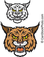 Lynx mascot - Head of lynx or bobcat for sport team mascot ...