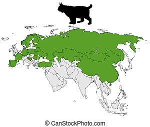 Lynx range map
