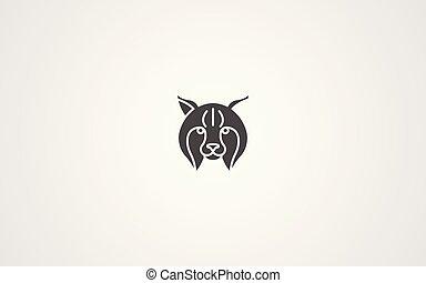Lynx vector icon sign symbol