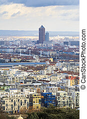 lyon, architektura, miasto, francja