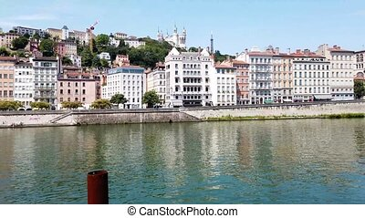 Lyon, France in a beautiful summer day - old town of Lyon ...
