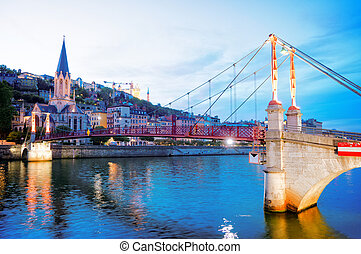 Lyon, France in a beautiful summer day